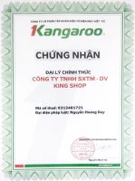 Chứng nhận đại lý phân phối chính thức sản phẩm mang thương hiệu Kangaroo
