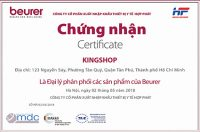Chứng nhận đại lý phân phối chính thức sản phẩm Thiết bị y tế Beurer