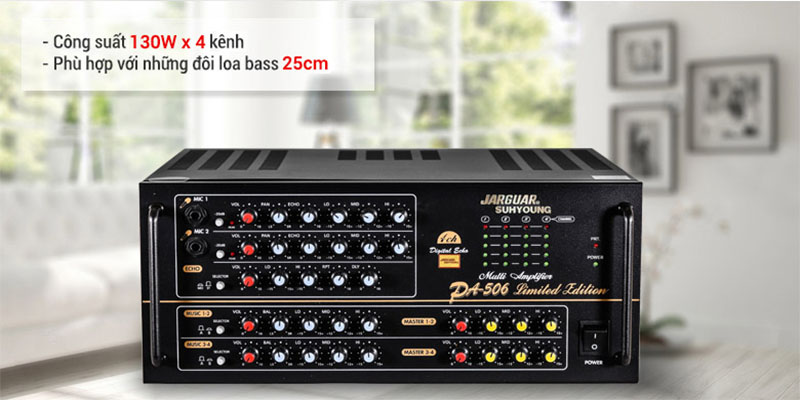 Ciong suất của Amply karaoke Jarguar Suhyoung PA-506 Limited Edition