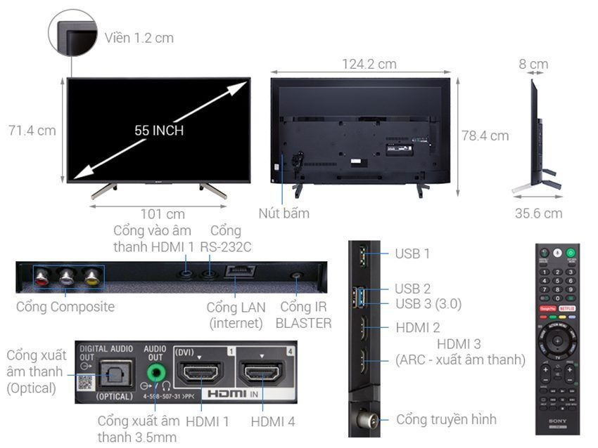 Chi tiết của android Tivi Sony KD-55X7500F