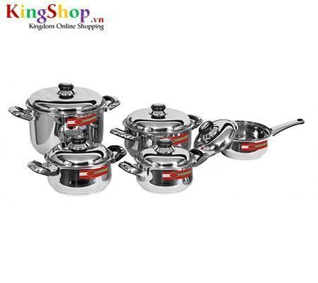 Bộ nồi Queen Star Happy Cook Q12CB