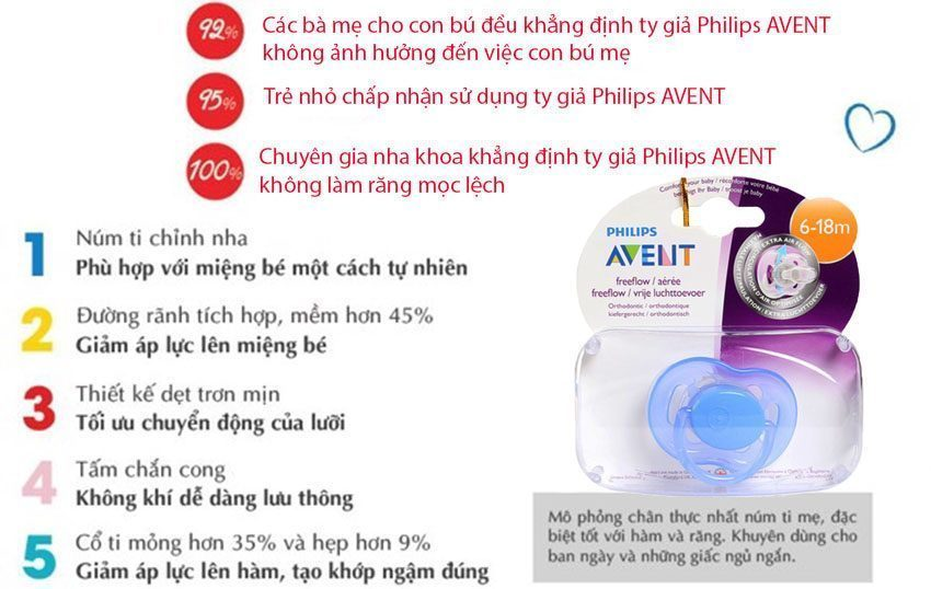 Tính năng của Ty ngậm cao su silicon Philips Avent SCF178/14