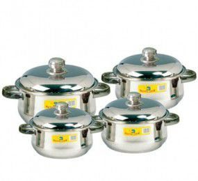 Bộ nồi Hollow 8 pcs Happy Cook HC08CHL