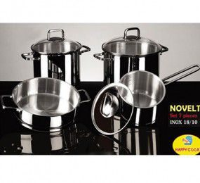 Bộ nồi Inox Happy Cook Novelty HC07NV